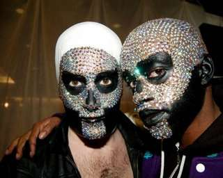 Bling-Encrusted Faces - Fritz Helder and the Phantoms Extreme Rhinestone Face Coverings
