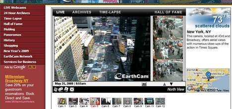 EarthCam.com Launches Live Streaming Across the World