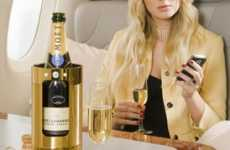 Blinged-Out Wine Coolers - Gold, Crystal & Diamond Vino Accessories by La Fraicheur
