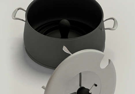 Self-Stirring Sauce Pots