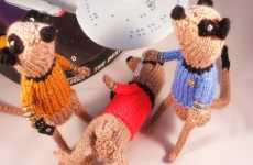 Extraterrestrial Plushies - Stuffed Meerkat 'Star Trek' Characters by NiftyKnits