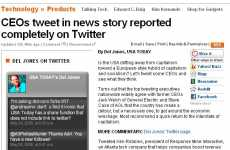 Twitter Newspapers - USA Today's Del Jones Uses Tweets as Only Source
