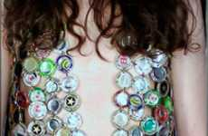 Scrap-Happy Fashion - Luxirare's Clothes Use Beer Bottle Caps & Playing Cards
