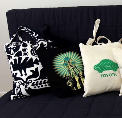 DIY Couch Cushions - Turn Your Eco Tote Bags Into Throw Pillows