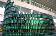 Beer Bottle Landmarks - Heineken Colosseum Replica From Recycled Packaging