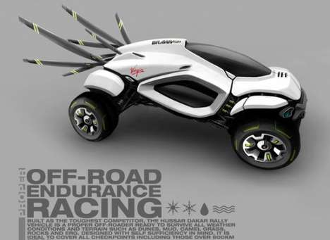 Futuristic Rally Cars