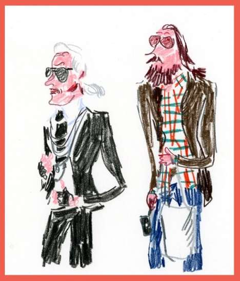 Fashion Sketch Witticisms - Humorous Look at Fashion Industry through Street Sketching