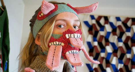 Extravagant Knit Face Masks