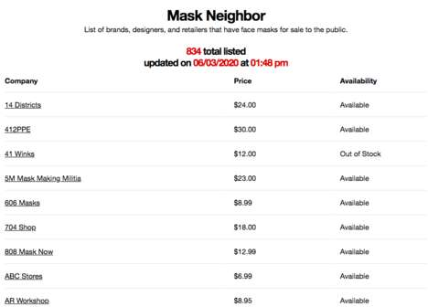 Local Mask-Locating Platforms