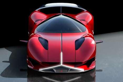 Logo-Shaped Headlight Sports Cars