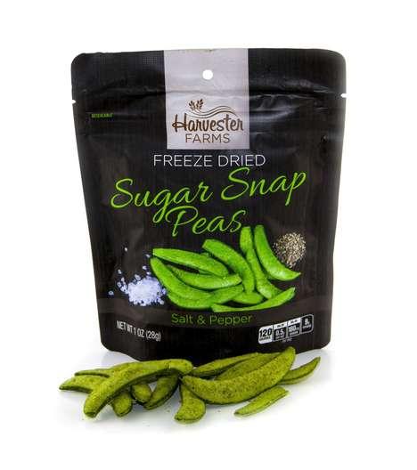 Savory Freeze-Dried Pea Snacks