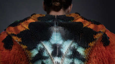 Butterfly-Inspired 3D-Printed Jackets