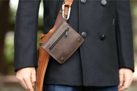 Essential-Organizing Leather Pouches
