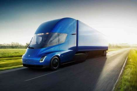 Electrically-Powered Semi Trucks