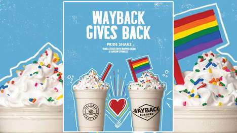 Supportive Pride-Themed Milkshakes