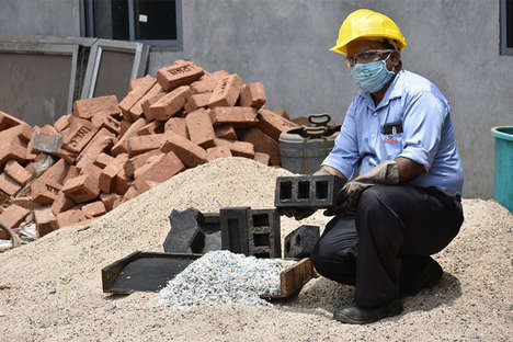 Recycled Plastic Masonry Bricks
