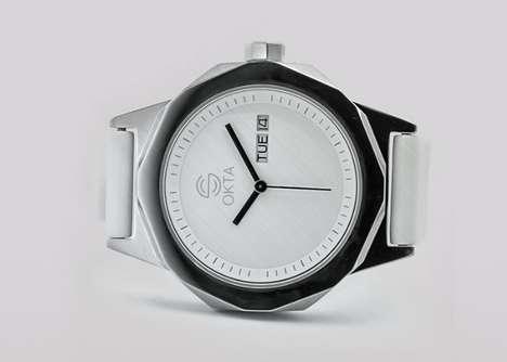 Angular Octagonal Timepieces