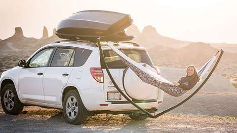 Car-Mounted Hammock Frames