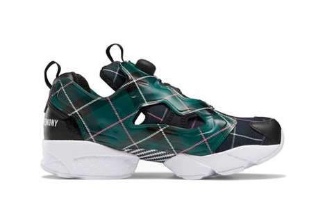 Plaid Patterned Sneakers