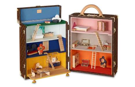 Monogrammed Trunk Dollhouses