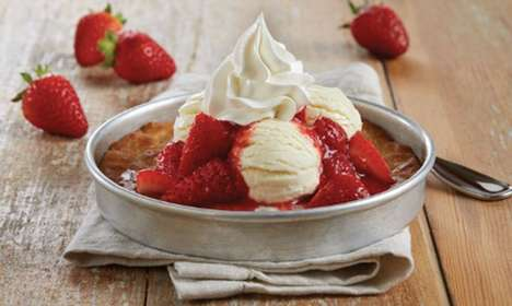 Strawberry Topped Skillet Cookies
