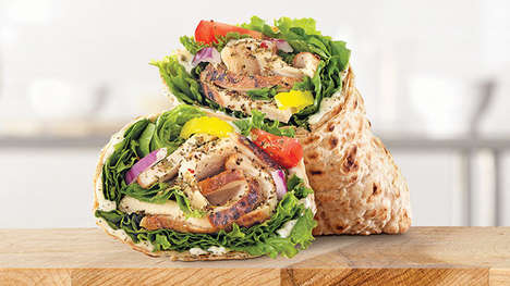 Artisan Chicken-Packed QSR Wraps