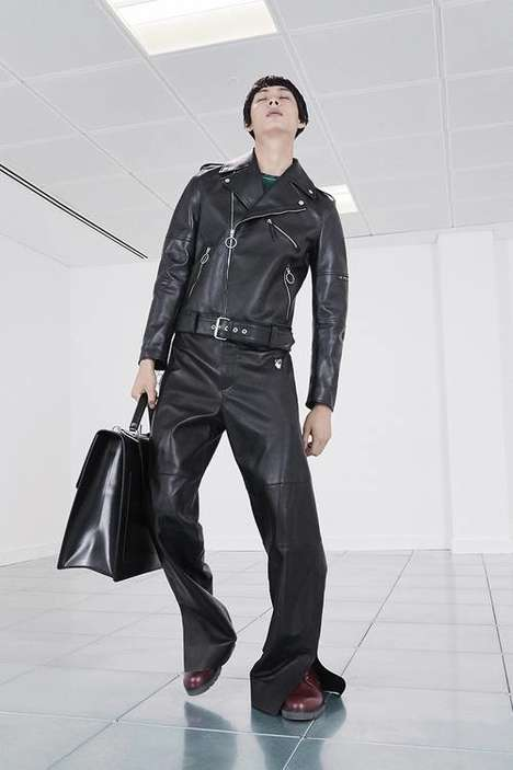 Leather-Centric Luxe Streetwear