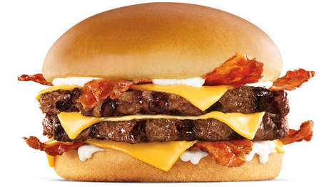 Double-Decker Black Angus Burgers - Carl's Jr.'s New Monster Angus Thickburger Features Extra Beef