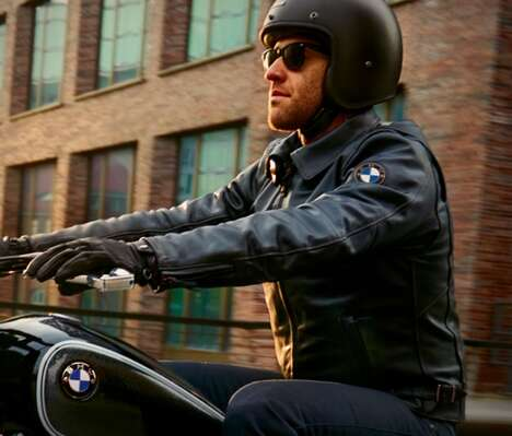 Stylish Motorcyclist Outerwear