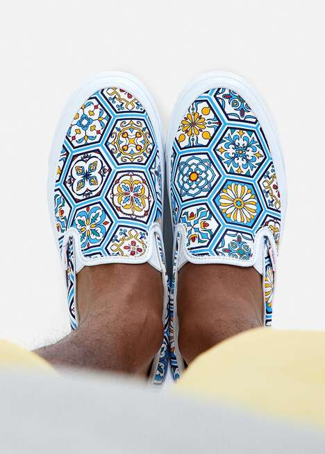 Moroccan Tile-Inspired Sneakers