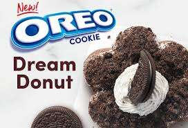Dreamy Cookie-Crusted Dounuts - Tim Hortons' New Oreo Cookie Dream Donut is Topped with Cookie Bits