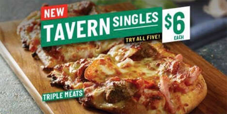 Individual Oval Crust Pizzas - Papa John's New Tavern Singles are an Easy On-The-Go Option