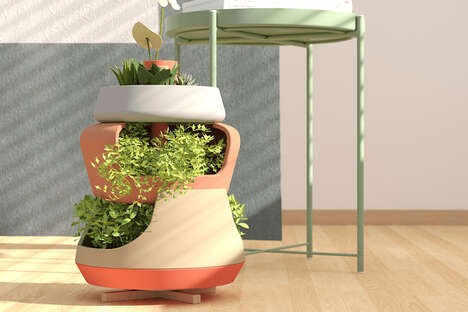 Vertical Windowsill Garden Systems