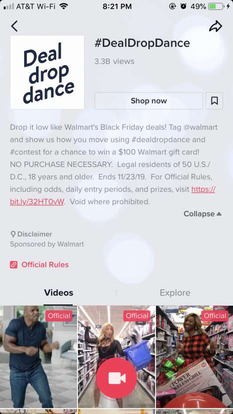 Dance-Based Superstore Campaigns