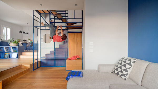 Rock Climbing-Inspired Staircases
