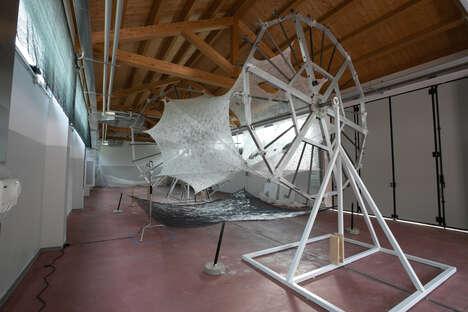 Silkworm-Spun Pavilions