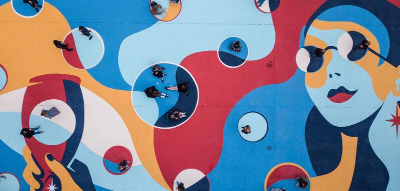 Social Distancing Murals
