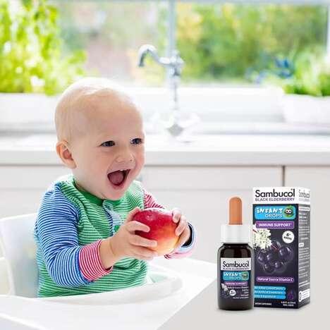 Infant-Friendly Elderberry Drops