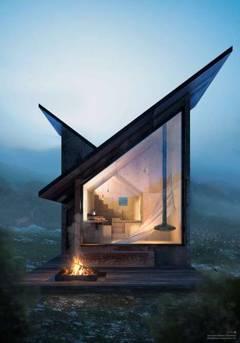 Tiny Mountainous Modular Cabin