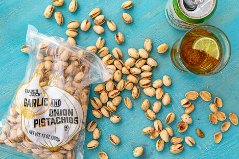Garlicky Dry Roasted Pistachios - Trader Joe's Garlic & Onion Pistachios are Bursting with Flavor