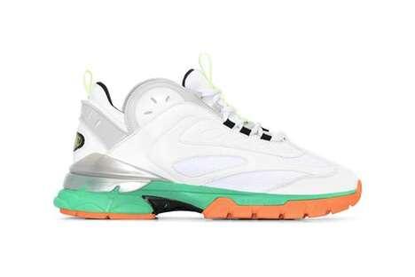 Vibrant Chunky Sneaker Models