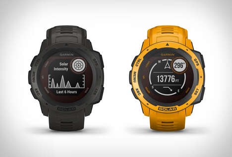 Solar-Powered Adventure Smartwatches