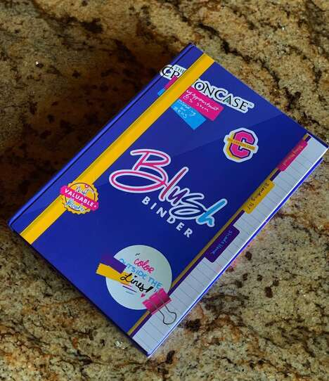 Binder-Themed Blush Palettes