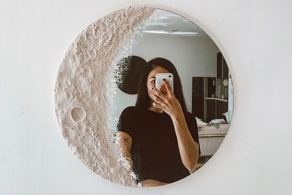 Lunar Surface-Inspired Mirrors