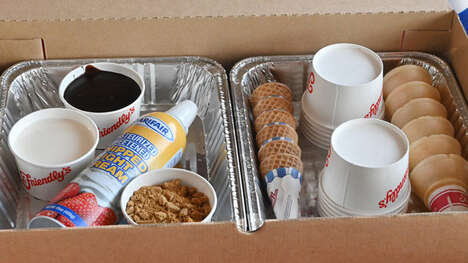Creamy Campfire Dessert Kits - Friendly's S'mores Sundae Kit Puts a Twist on a Classic Summer Treat