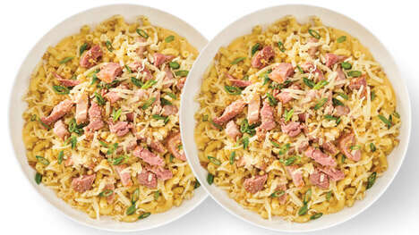Gourmet Macaroni Meals - Noodles & Company's New Ham & Gruyere Mac Features Gourmet Toppings