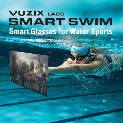 Tech-Integrated Swim Goggles