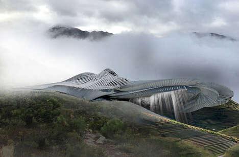 Futuristic Fog-Harnessing Spas
