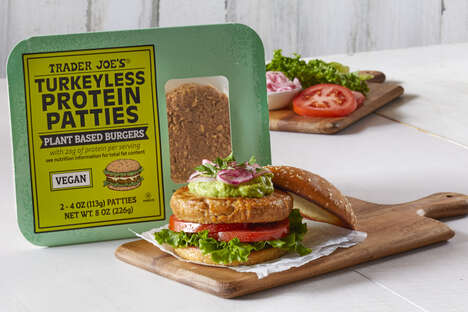 Turkey-Free Protein Burgers - Trader Joe's Turkeyless Protein Patties Feature a Pea Protein Base