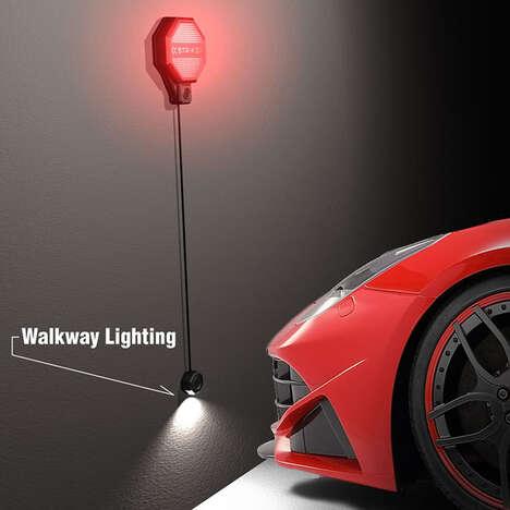 Distance-Tracking Garage Parking Sensors